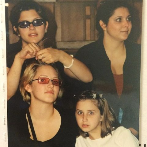 Emily and her siblings during their youth.