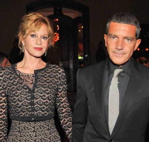 Melanie Griffith and Antonio Banderas at an event.