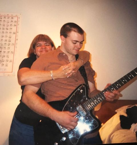 Jason Cope with mother, Joan Cope.