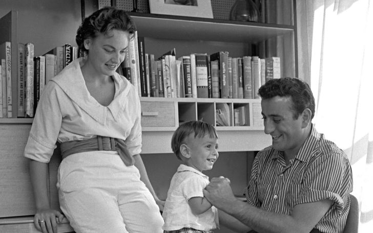 An old photo of Patricia Beech and Tony Bennett with their son.
