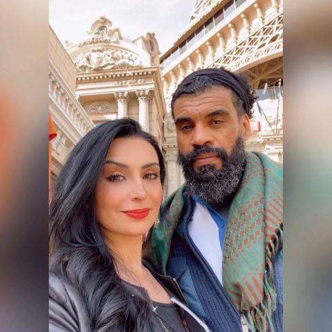 Ruzanna Khetchian with her new boyfriend.