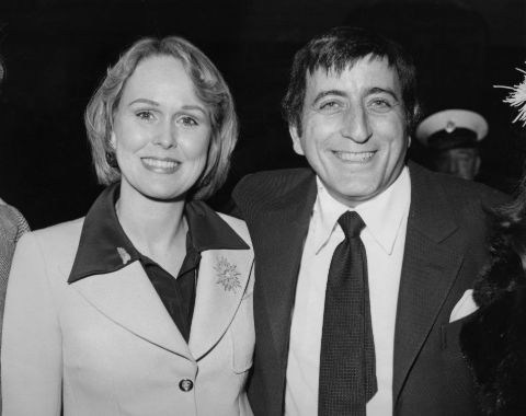 An old photo of Tony Bennett and Sandra Grant.