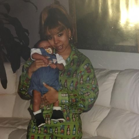 Zonnique Pullins with her mother, Tameka Harris.
