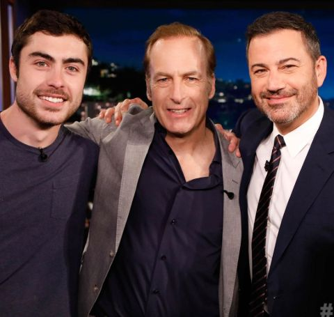 Bob Odenkirk with Son Nathan and Host, Jimmy Kimmel.
