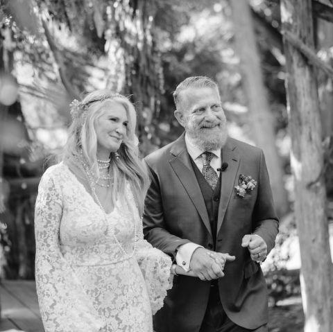 Chad Einbinder and Wendy Brazill's wedding day.