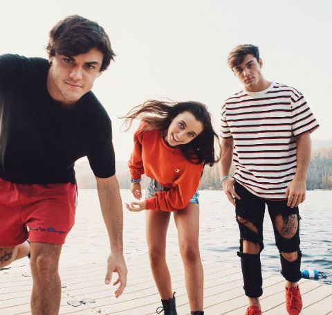 Emma Chamberlain with The Dolan Twins.