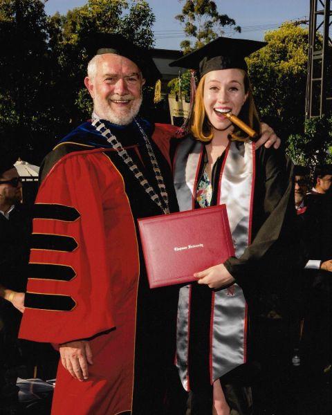 Hannah Einbinder during graduation.