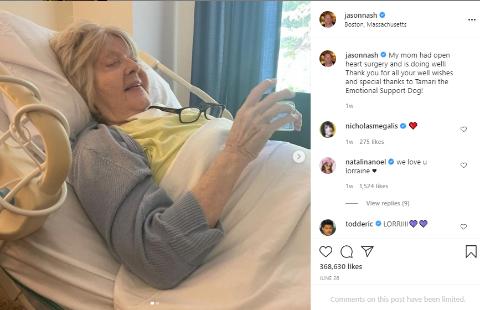 Jason Nash's Instagram Snip.