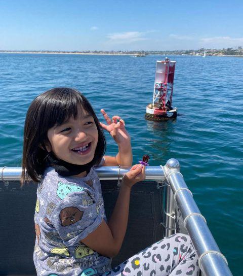 Luna Marin Ibarra during a boat ride.