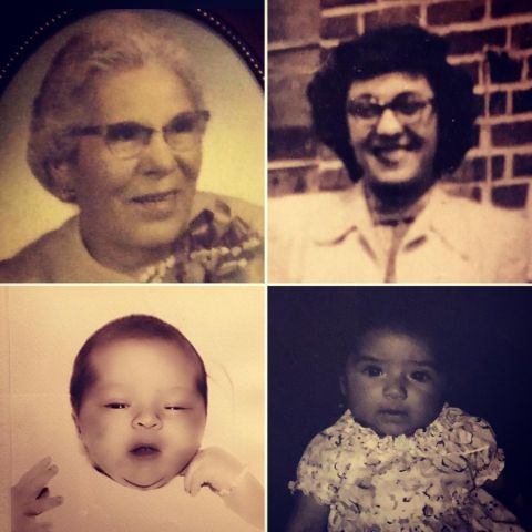 Lynette Romero, her grandma, mother, and daughter Collage.