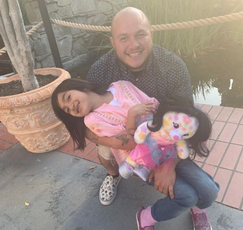 Michael Marin Rivera with daughter, Luna Ibarra.