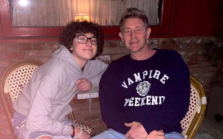 Wyatt Nash with his dad, Jason Nash.