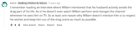 Fan says Bruce Avoids the Drag Part.