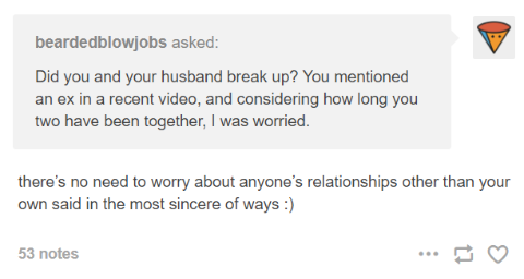 A tumblr comment asking if Bruce and Willam broke up!