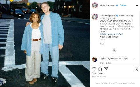 Kebe Dunn and Michael Rapaport's photos from the 90s.