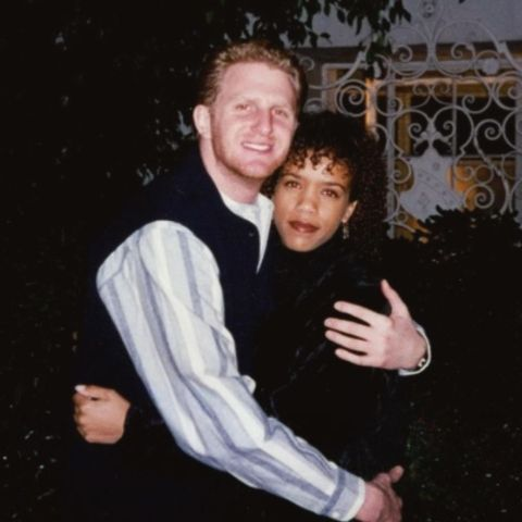 """1993 On the way to the """"True Romance"""" premiere."""