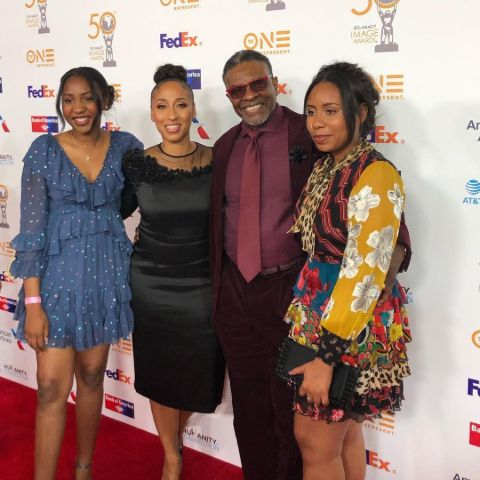 Keith David, Dionne Lea, MeaLea, and Ruby Williams at an event.