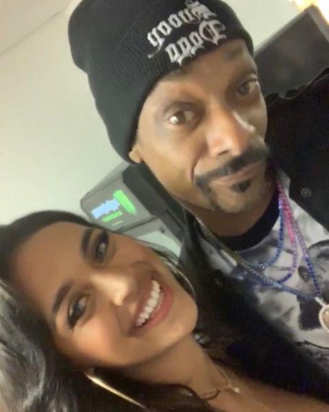 Sela Vave and Snoop Dogg.